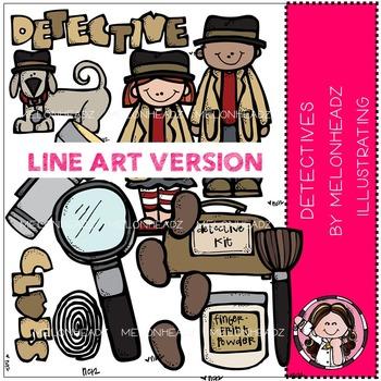 Sandra's detectives by Melonheadz LINE ART