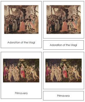 Botticelli (Sandro) 3-Part Art Cards
