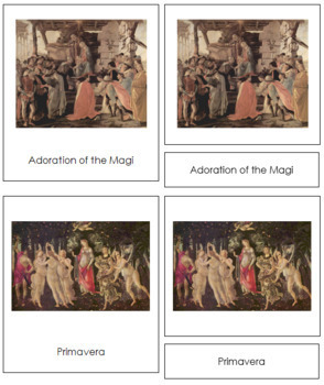 Botticelli (Sandro) 3-Part Art Cards