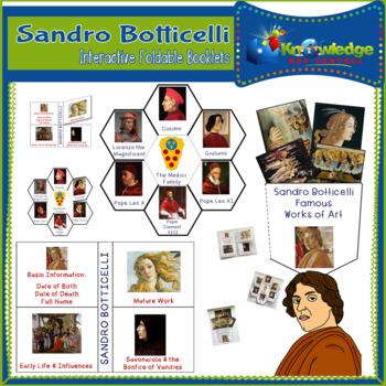 Sandro Botticelli Interactive Foldable Booklets