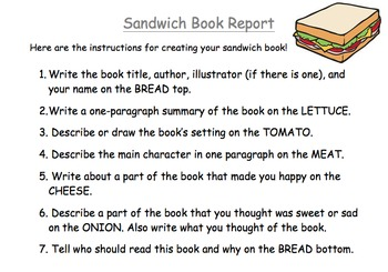 Sandwich Book Project