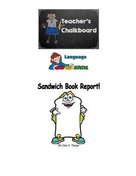 Sandwich Book Report B/W