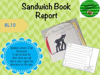 Sandwich Book Report Project
