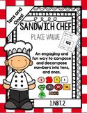Place Value Sandwich Chef: 2-digit  Numbers - Math Dollar Deals