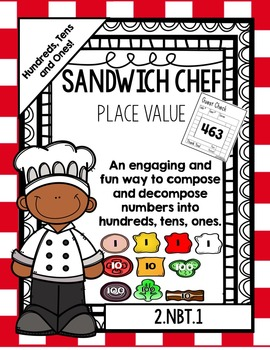 Place Value Sandwich Chef: 3-digit Numbers