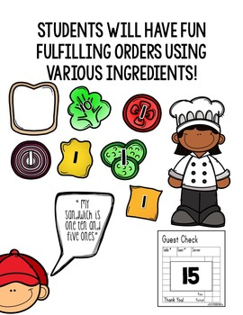 Place Value Sandwich Chef :Teen Numbers (An place value activity) (FREEBIE!!!)