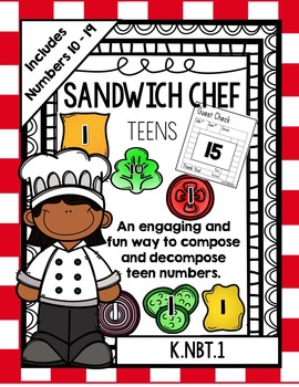 Place Value Sandwich Chef (Teen Numbers) (FREEBIE!!!)