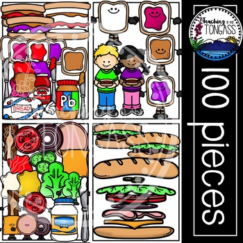 Sandwich Clipart MEGA Bundle (Peanut Butter and Jelly Clipart and MORE!)