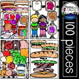 Sandwich Clipart MEGA Set (Peanut Butter and Jelly Clipart