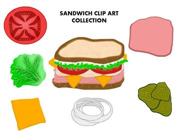 Sandwich Clipart Collection