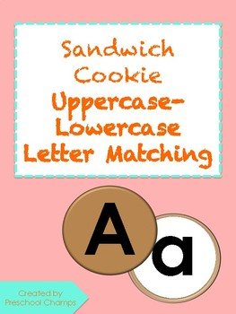 Sandwich Cookie Uppercase-Lowercase Letter Matching