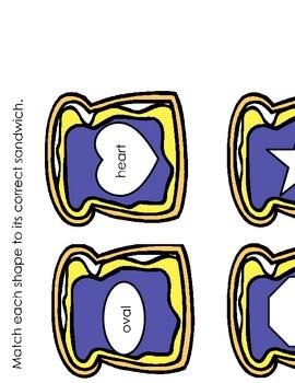 Sandwich Shapes Shape Matching Center Game