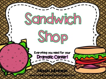 Sandwich Shop Dramatic Play Center
