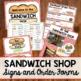 Sandwich Shop Dramatic Play Pack