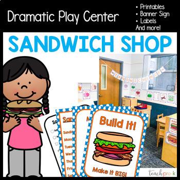 Sandwich Shop Dramatic Play Set