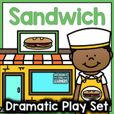 Sandwich Shop Dramatic Play Set