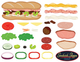 Sandwich Shoppe Clip Art Set / Food Clip Art  - Build your own sandwich!