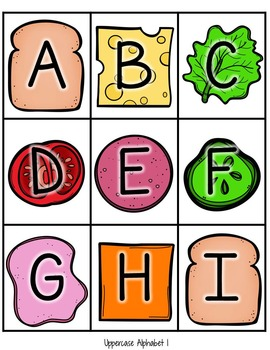 Sandwich Stackers: Editable Alphabet, CVC and Sight Word Game!