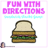 Giving & Following Directions in Speech Therapy with the Sandwich Stacks Game