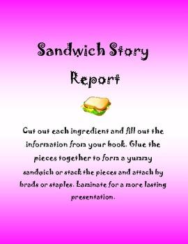 Sandwich Style Book Report