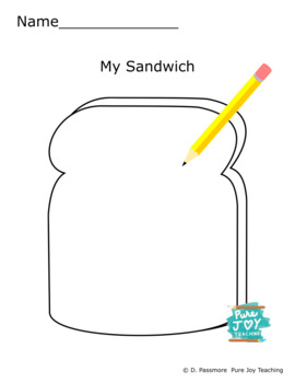 Sandwich Worksheet Free coloring page Inspire stories