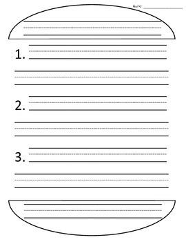 Sandwich Writing {A Graphic Organizer}