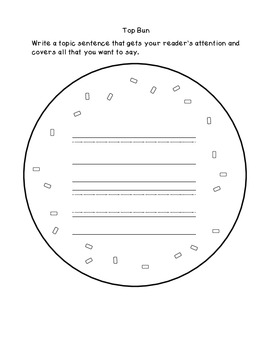 Sandwich Writing: Bulletin Board, Graphic Organizer, and Craftivity