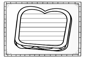 Sandwich Writing Template