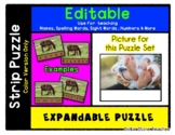 Sandy Baby Feet - Expandable & Editable Strip Puzzle with