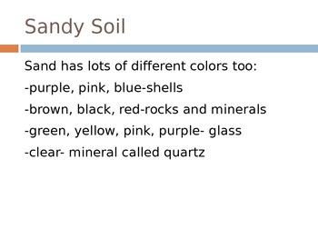 Sandy Soil PowerPoint