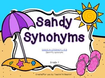 Sandy Synonyms- CCSS ELA Grade 1- Synonym Sort