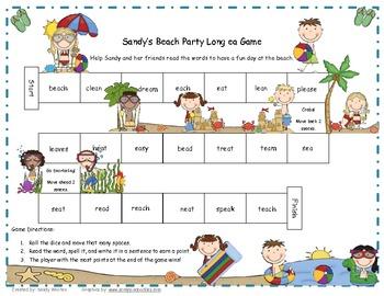 Sandy's Beach Party Long ea Word Game RF.1.3, RF.2.3
