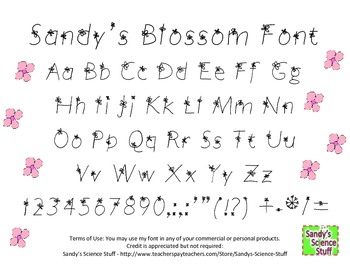 Sandy's Blossom Font