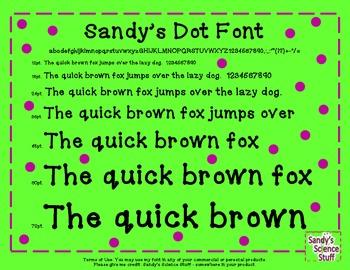 Sandy's Dot Font