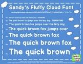 Sandy's Fluffy Cloud Font