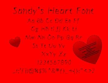 Sandy's Heart Font