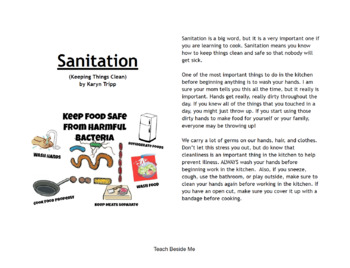 Sanitation and Food Safety Mini Book