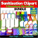 Sanitizing Cleaning Clipart BUNDLE