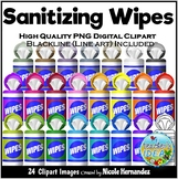 Sanitizer Wipes Clip Art for Personal and Commercial Use