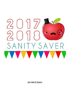 Sanity Saver: Cover Page