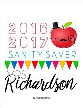 Sanity Saver: Custom Cover