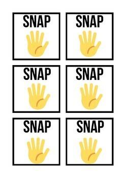 Sanp cards game, template