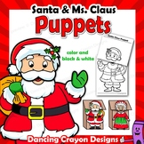 Santa Craft | Printable Paper Bag Puppet Template