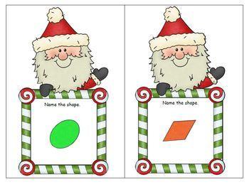 Santa 2D and 3D Shapes