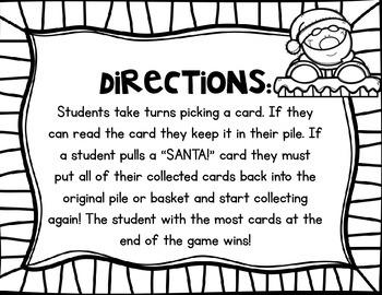 Santa! A Primer Sight Word Game