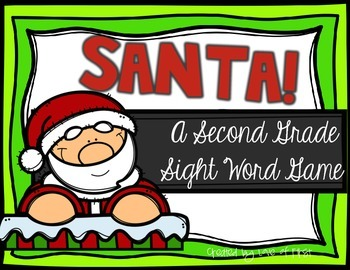 Santa! A Second Grade Sight Word Game