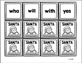 Santa! A Sight Word Game BUNDLED