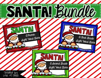 Santa! A Sight Word Game BUNDLED
