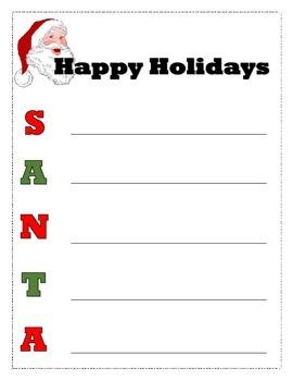 Santa Acrostic Poem