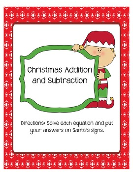 Santa Adding and Subtracting